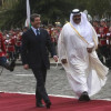 The president Georgi Parvanov meets the emir of Qatar