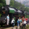 Spanish tourists cross Bulgaria with retro trains