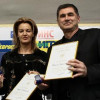 Stefka Kostadinova gave a medal to docent Lozan Mitev