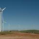 The wind farm in Kardam under construction