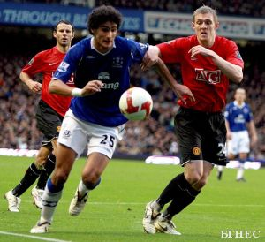 Everton:Manchester Utd - 1:1, Berbatov plays all game