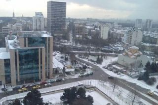 Sofia wakes up covered in snow