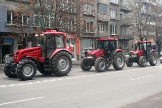 The protest of grain-producers began