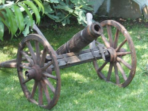 The only original cherry-tree cannon in Bulgaria - kept in Bratsigovo