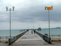 The forebridge - symbol of Burgas