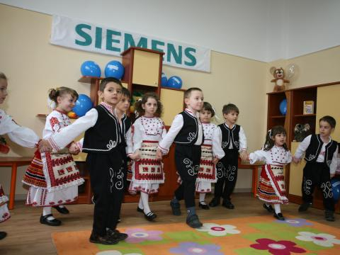 Siemens Bulgaria opened a kindergarten in an office in Sofia