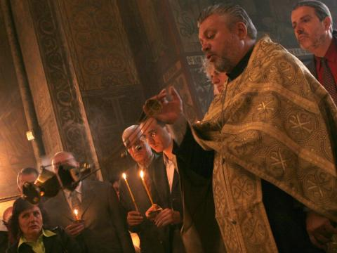 Vasily's liturgies were performed