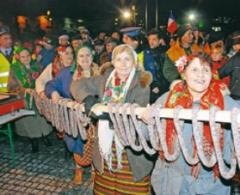 Bansko greets guests with a 100 metre long flat sausage