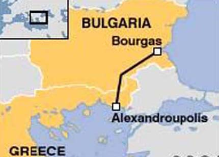 Oil from Kazakhstan to flow in Bourgas-Alexandroupolis