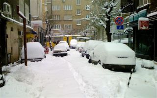 Snow over Sofia once again