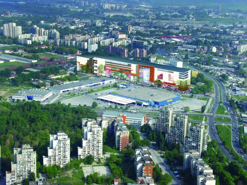 Reduction of traffic near the mall of Plovdiv