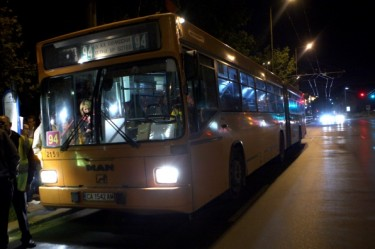Nighttime transport in Sofia - until October 1st