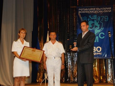 Rear admiral Hristo Hristov is a honorary citizen of Burgas