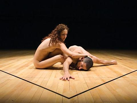 Two naked spectacles during Sofia Dance Week